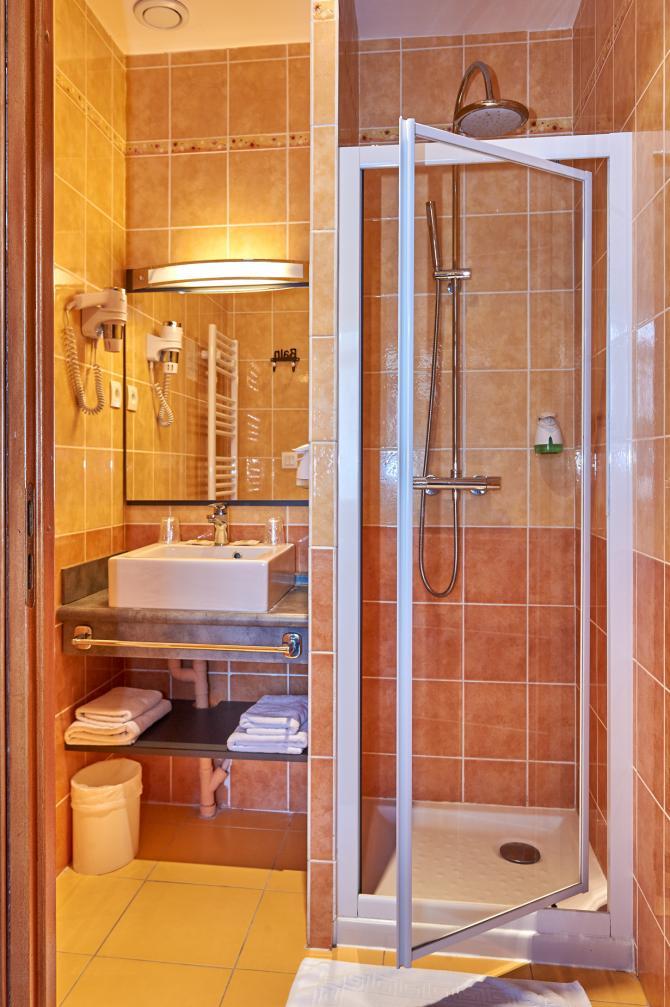 Au Relais Nivernais - Chambre Twin - Salle de bain / douche